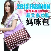 Large capacity high quality multifunction big dots fashion mommy bag ,free shipping