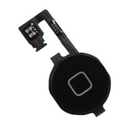 Replacement Parts Black Home Menu Button Flex Cable W/ Key Cap For iPhone 4 4G