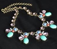 New fashion vintage amazing multicolor flower short necklace