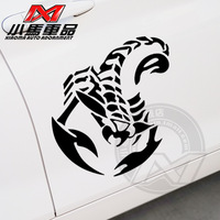 Car reflective car stickers garland scorpion creepiness animal personalized exude pattern body stickers 0226