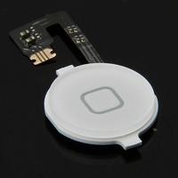 Original Home Button Menu Keypad Flex Cable with Key Cap For iPhone 4S 4GS White