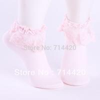 Fashion popular six colors pure cotton ladies socks lace The Fabric Soft Comfort