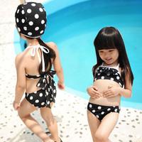2012 hot spring swimsuit female child baby big boy bikini female swimwear hat
