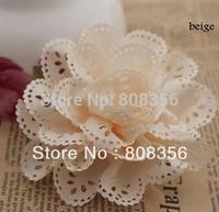 50Pcs Hair Ornaments Accessories DIY Handmade Flowers Hollow Multilayer Shoe Flower Corsage