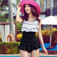 2013 1387 one piece hot spring female swimwear small skirt style swimsuit