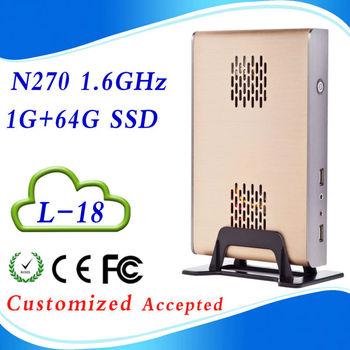 High performance ATOM N270 L18 1G ram  64G SSD pc audio input mini embedded pc Support Touchscreen