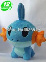 12inch Japanese Anime Pokemon Mudkip Plush Toy Doll,1pcs