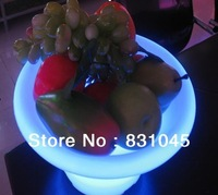 RGB remote control PE luminous furniture LED fruit pot with touch control