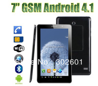 5 pc a lot 7 inch MTK6515 phone call Android tablet pc wifi bluetooth dual sim slot