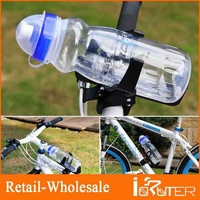 Free Shipping 2013 Wholesale Transparent With Dust Cover Design Bicycle Water Bottle Good For Outdoor Cycling Sport