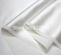 Free shipping 94cm width 100% silk scarf fabrics in the high-grade white silk crepe satin
