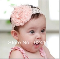 BB38 10pcs/lot Promotion Baby Headbands Korean Hair bands Hair accessories Roses Princess flower head Infant Head Christmas