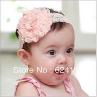 BB38 10pcs/lot Promotion Baby Headbands Korean Hair bands Hair accessories Roses Princess flower head Infant Head Christmas