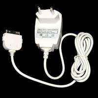 EU Home Wall AC Charger Adapter For iPhone 4 4G 3G 3GS White 100V-240V  1pc/lot Free Shipping