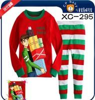 2014 new style children's Christmas dress, long sleeve t - shirts, pants, children's pajamas, Christmas gift baby pajamas