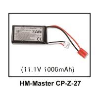 Walkera Master CP Spare Parts Li-po battery 11.1V 1000mAh 25C HM-Master CP-Z-27