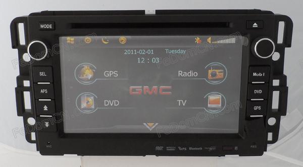 Car GPS Screen with DVD Player for Chevrolet Tahoe/ Impala / Malibu/ Sierra/ GMC Yukon with Radio + Ipod + Bluetooth(China (Mainland))
