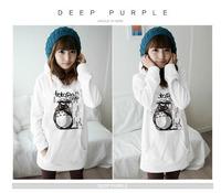 2013 autumn outerwear totoro outerwear plus velvet with a hood 100% men's cotton clothing women's sweatshirt hoodie  wholesales
