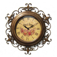 Fashion iron wall clock classical decoration clock wrought iron wall clock decoration