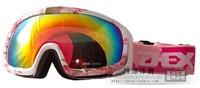 Dex skiing mirror double layer antimist uv microspherical male Women monoboard vacuum coating