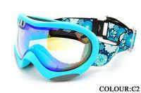 Basto skiing mirror double layer antimist spherical lens sg363 neon color girls
