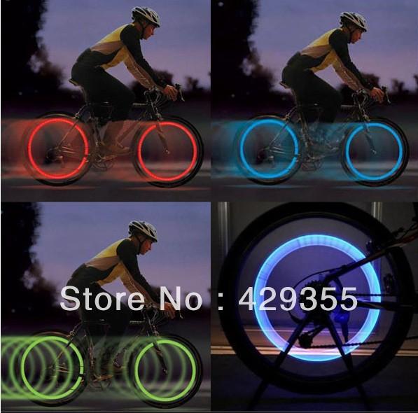 Fabricante da bicicleta da bicicleta ciclismo raios da roda pneu fio tiro Bright LED lâmpada luz(China (Mainland))