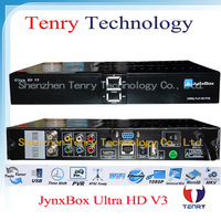 Jynxbox Ultra HD V3 TV Receiver FREE JB200 8PSK Module& with wifi antenna 5pcs/lot
