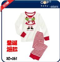 New style children's Christmas dress,  girls princess long-sleeved leisurewear, children's pajamas, baby pajamas
