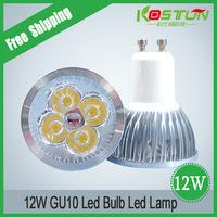 8x GU10 85-265V 4x3W 12W High power LED Light lamp Bulb LED Downlight Led Bulb Warm/Cool White lamps FREE SHIPPING