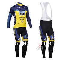 Anyone to match 2013 SAXO BANK Team Blue&Yellow Cycling Jersey / Cycling Clothing / Long (Bib) Pants / Set-C130910 Free Shipping