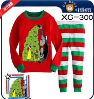 New style children's Christmas dress, long sleeve t - shirt, pants, children's pajamas, baby pajamas 6sets/lot