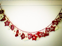 Christmas decoration calendar 2.9 meters