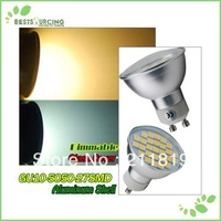 Hot!!! Freeshipping 10pcs/lot  GU10 27 SMD 5050 Led Day / Warm White Light  Bulb Dimmable Kitchen /Bedroom/Drawing Room Light
