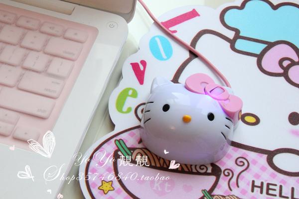 Powder HELLO KITTY mouse usb mouse(China (Mainland))