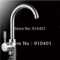 Free Shipping Wholesale And Retail Promotion Chrome Brass Kitchen Faucet Single Handle Vessel Sink Mixer Tap Swivel Spout Chrome