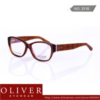 New Aarrival!2013 Unique Design Optical Frame For Men/Women Special Stripe Temple Oliver Brand Eyewear 2110 Free Shipping!