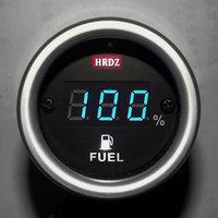 Car digital oil meter molded case belt mount gasoline meter modified car instrument led fuel gauge