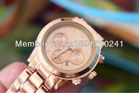 2013nice  Free shipping   Quartz Watch round stainless steel fashion wrist watch with for men women automatic watches