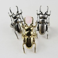 free shipping 12pc/lot fashion metal beetle the bug vintage rings jewellery for women