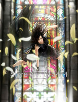 "10 Final Fantasy FF VII Tifa 24""x31"" Inch Wallpapr Sticker Poster with tracking number"