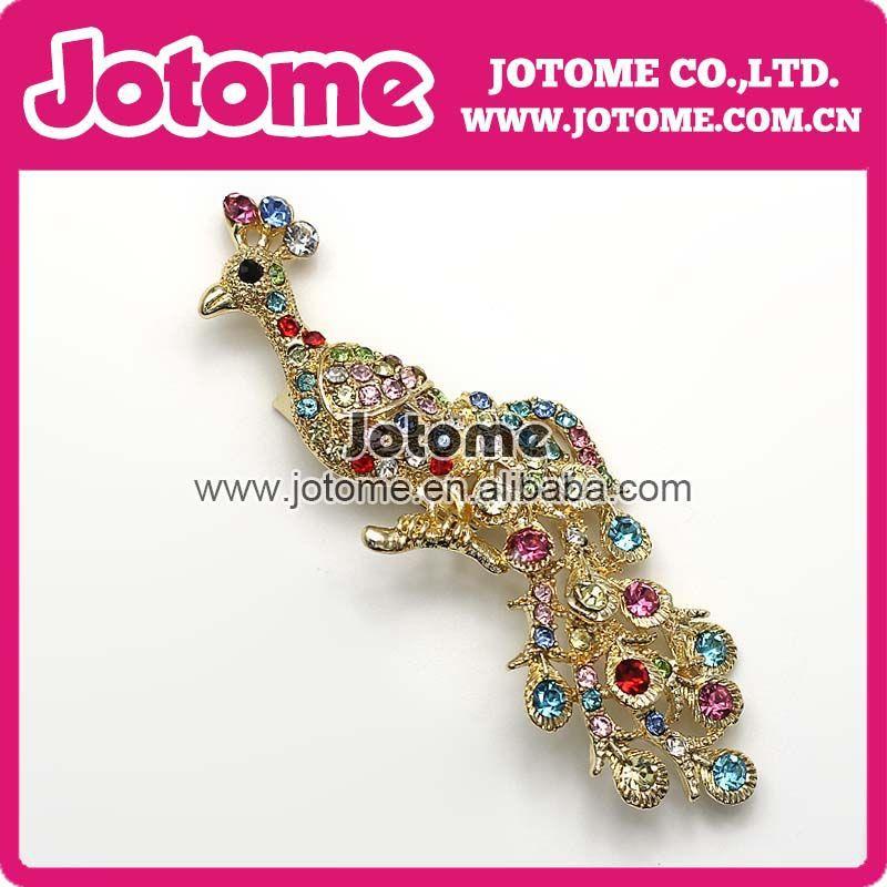 اشياء الطاوس Free-Shipping-High-Quality-Decorative-Garment-Accessories-Bridal-Wedding-Shiny-Rhinestone-Animal-Phoenix-font-b-Peacock