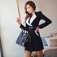 Free shipping S M L 2013 new fashion autumn Women's Coat  long design long-sleeve suit jacket women blazer dress xc-484