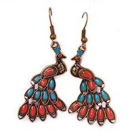 0382 Wholesale! fashion vintage all-match pendant peacock bird earrings 2013 new fashion women