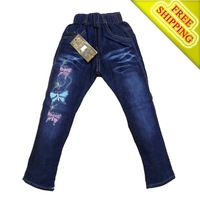 Brand 2013 Spring and autumn kids clothes denim pants for children trousers girls sport jeans free shipping 9018
