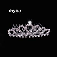 2013 New Free Shipping 12pcs/lot Fashion Children Kids Rhinestone Princess Hair Wedding Tiara Hair Crown Christmas Gift Present