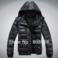 Free shipping 2013 WINTER OVERCOAT FOR MEN, MEN'S CASUAL SLIM-FIT DOWNCOAT, VERY GOOD QUALITY DOWNJACKET