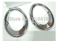 Free Shipping For 2010~2011 Audi Q5 Chrome Fog Light Cover Trim Mouding Exterior High Quality