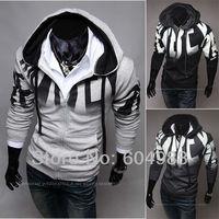 New styles Men's Letter printing clothes men's Hooded Fleece slim Hoodeies