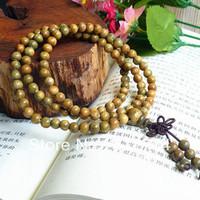 Free shipping wholesale 10pc/lot 108*10mm genuine green sandalwood wooden beads bracelet Buddha prayer mala Men&women Yoga malas