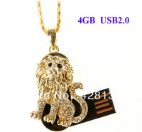 P299 4GB USB2.0 USB Disk Flash Memory USB Sticks Lion Shape Animal Design, Global Free Shipping